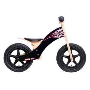 Bicicleta Aprendizaje REBEL KIDZ Air Madera Llamas Negro