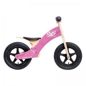 Bicicleta Aprendizaje REBEL KIDZ Air Madera Mariposa Rosa
