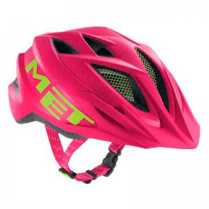 Casco MET Crackerjack Rosa-Verde