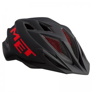 Casco MET Crackerjack Negro-Rojo