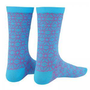 Calcetines SUPACAZ Asanoha Azul-Rosa Neon