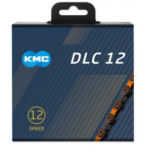 Cadena KMC DLC12 12v Negro/Naranja 126 Eslabones