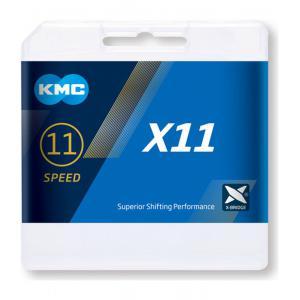 Cadena KMC X11 Gris 11v 118 Eslabones