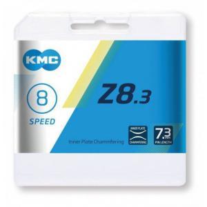 Cadena KMC Z8 Cromada/Gris 8v 114 Eslabones