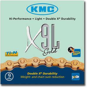 Cadena KMC X-9L Gold 9v