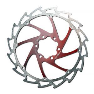 Disco de Freno UNEX Sierra 180mm Rojo