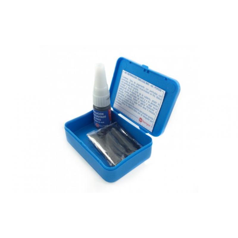 BOMPAR Caja parches para pinchazos bici vulcanizante azul