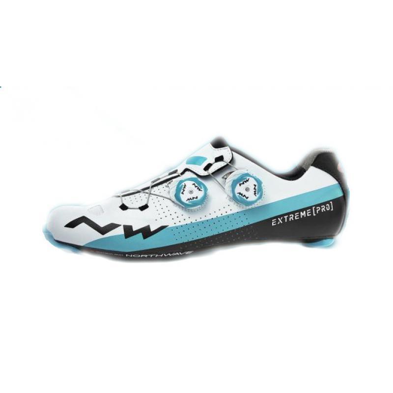 Northwave Storm Carbono Zapatos de Bicicleta de Carretera Blanco//Azul
